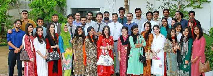 Asif Iqbal in a Group Photograph in Iqra University