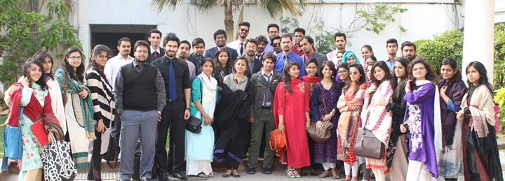 Asif Iqbal in Group Photograph at Iqra University